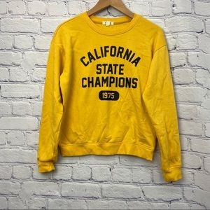 Garage Ladies Yellow Crewneck Sweater